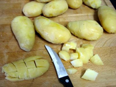 Salade aux restes de pommes de terre vapeur et chèvre - 1.2
