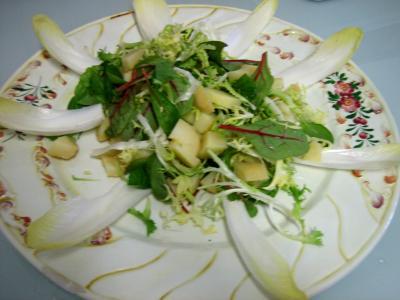 Salade aux restes de pommes de terre vapeur et chèvre - 5.1