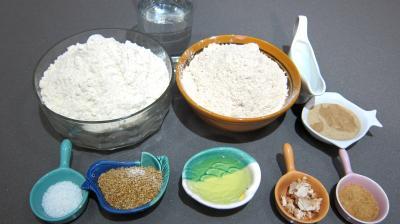 Ingrédients pour la recette : Pain complet au sésame