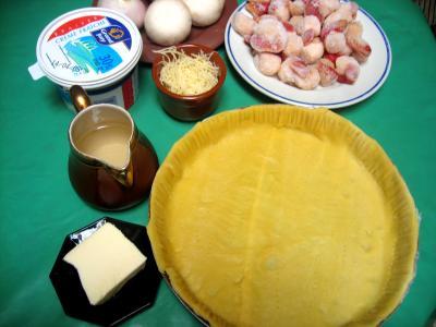 Ingrédients pour la recette : Coquilles Saint-Jacques en quiche