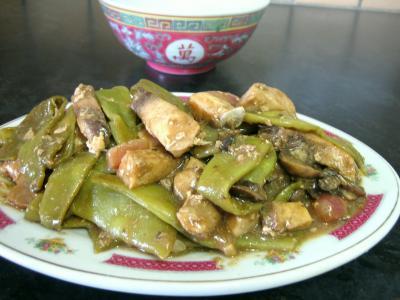 Recette Espadon aux haricots mange-tout façon chinoise