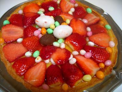 Recette Tarte de Pâques aux fraises et à la brousse