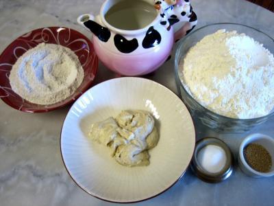 Ingrédients pour la recette : Pain de campagne à pâte fermentée