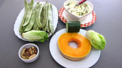 Ingrédients pour la recette : Haricots plats en salade