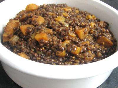 Recette Lentilles à la tomate à la marocaine