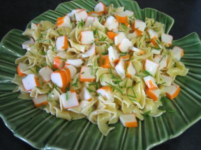 Image : Plat de tagliatelle au surimi