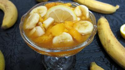 Recettes rapides : Coupe de salade de bananes et de mangue