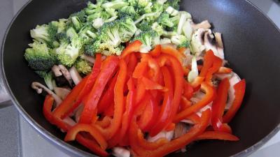 Tagliatelle au poivron et champignons - 4.4