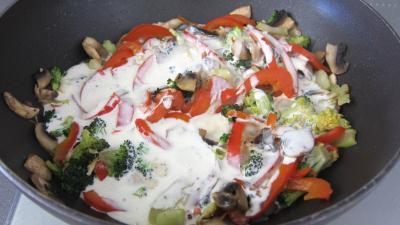 Tagliatelle au poivron et champignons - 5.2
