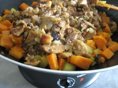 Pommes de terre et patates douces aux cèpes - 8.1