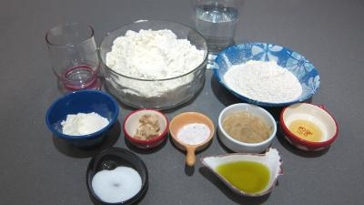 Ingrédients pour la recette : Pain tordu à la farine d'orge