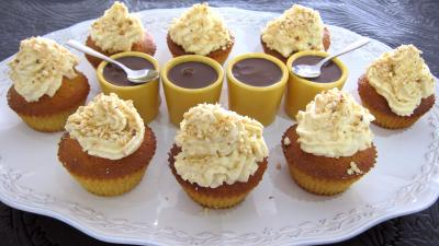 Recette Plat de cupcakes aux noix de cajou et chocolat