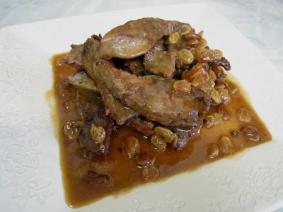 Foie de veau aux raisins secs et au potimarron - 14.2