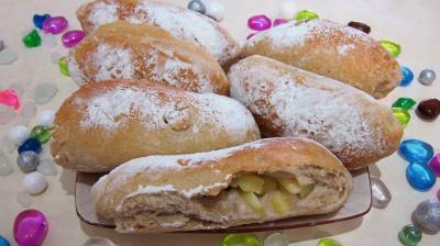pain farci : Pain aux pommes