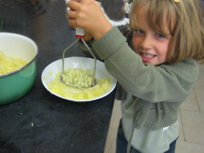 Pintade à la purée de maïs et champignons - 14.1