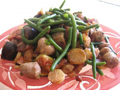 Recette Navets et haricots verts au wok
