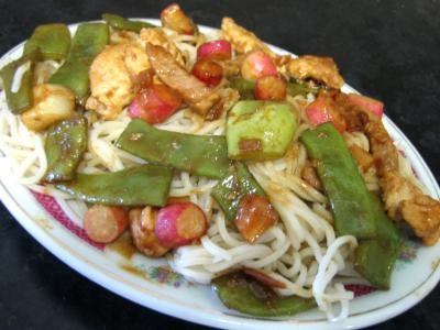 Image : Assiette de nouilles au soja