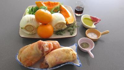 Ingrédients pour la recette : Poulet aux fenouils et butternut