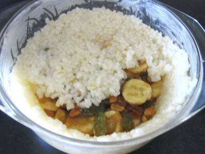 Gâteau de riz farci et sa salade de fruits - 7.1