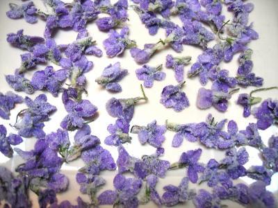 Image : recette Fleurs cristallisées