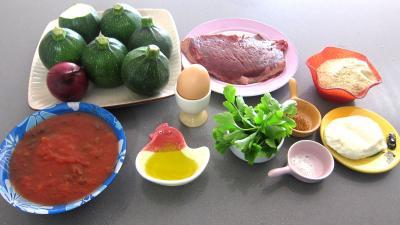 Ingrédients pour la recette : Courgettes farcies