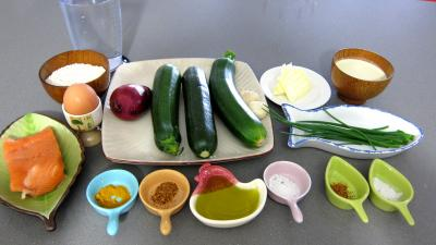 Ingrdients pour la recette : Boulettes de saumon aux courgettes faon marocaine