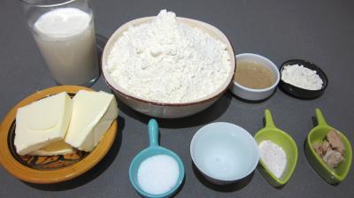 Ingrédients pour la recette : Pain viennois