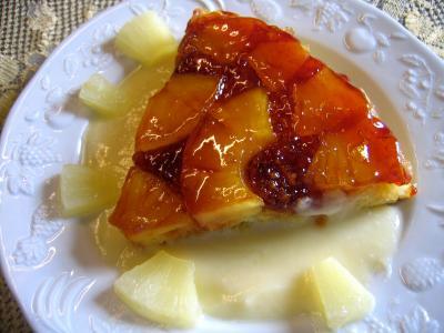Recette Tranche de gâteau à l'ananas