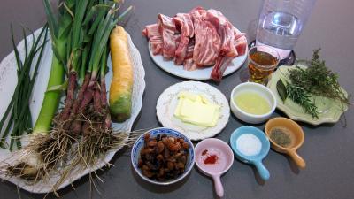 Ingrédients pour la recette : Poitrine d'agneau au miel