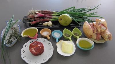 Ingrédients pour la recette : Sauté de poulet à la poire