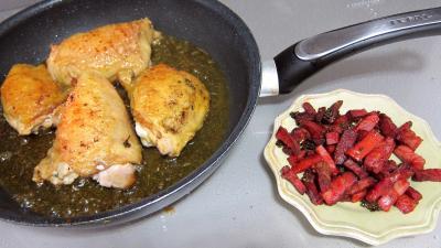 Sauté de poulet à la poire - 7.4