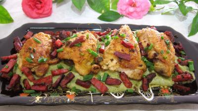 Recette Sauté de poulet à la poire