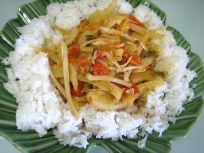 Image : Assiette de riz minceur au fenouil