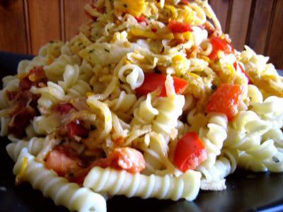 Recette Assiette de sauté de chou-rave au maccheroni