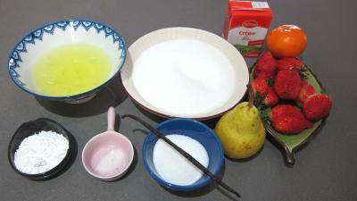 Ingrédients pour la recette : Pavlova aux fraises