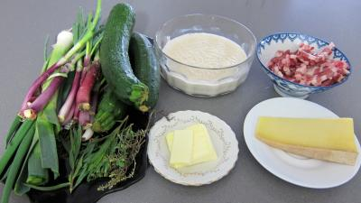 Ingrédients pour la recette : Courgettes au gratin