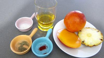 Ingrédients pour la recette : Sauce vinaigrette à la mangue