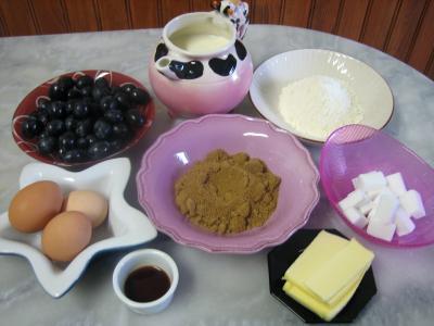 Ingrédients pour la recette : Flan aux raisins muscat