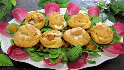 Recette Assiette de mini-gougères fourrées