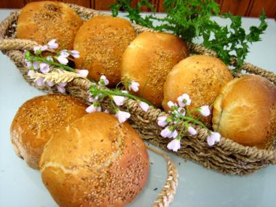 Image : Petits pains farcis à l'oignon et aillettes