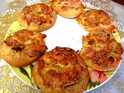 sucre complet : Minis pizzas au poireau en amuse-bouche