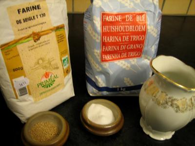 Ingrédients pour la recette : Pain de campagne au poolish