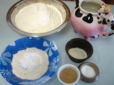 Ingrédients pour la recette : Pain de campagne