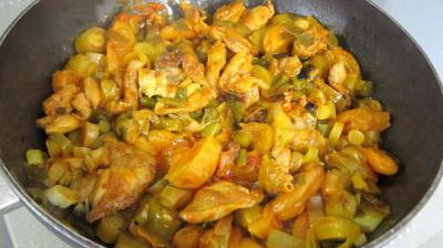 Mijoté de poulet aux abricots - 7.4
