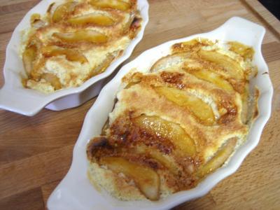 gousse de vanille : Ramequins de sabayon aux poires