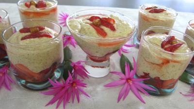 Recette Mousse aux noisettes et aux fraises