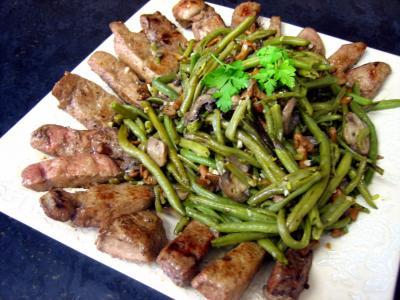 haricots verts : Foie de veau aux haricots verts