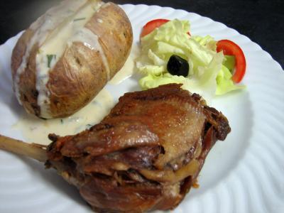 Recette Confit de canard sauce gorgonzola