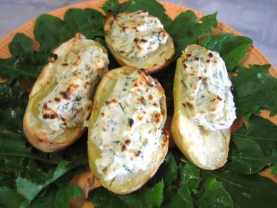 Recette Pommes de terre farcies à la ricotta
