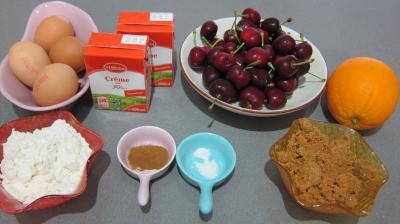 Ingrédients pour la recette : Tarte aux cerises